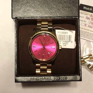 Michael Kors Women's MK5801 Pink Dial Watch